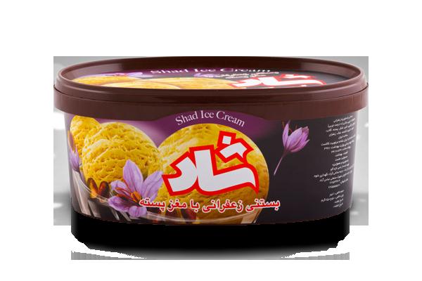 بستنی زعفرانی با پسته